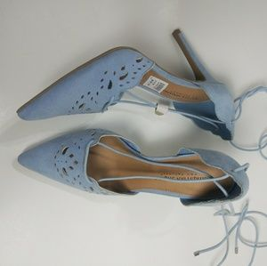 Christian Siriano Blue Suede Shoe Size : 9 NWT